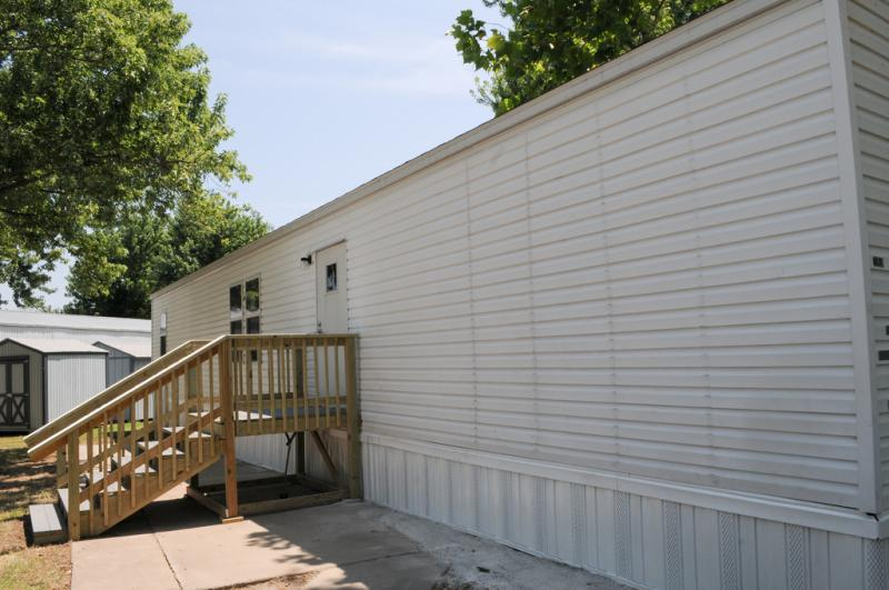 The Federal Emergency Management Agency placed temporary housing units in Joplin, Mo., similar to the one shown.