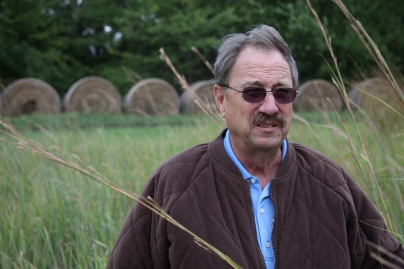 Wayne Vassar grows native grasses for biofuel as part of the federal Biomass Crop Assistance Program.