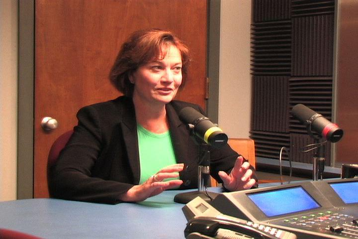 Susan Montee in the KBIA studio.