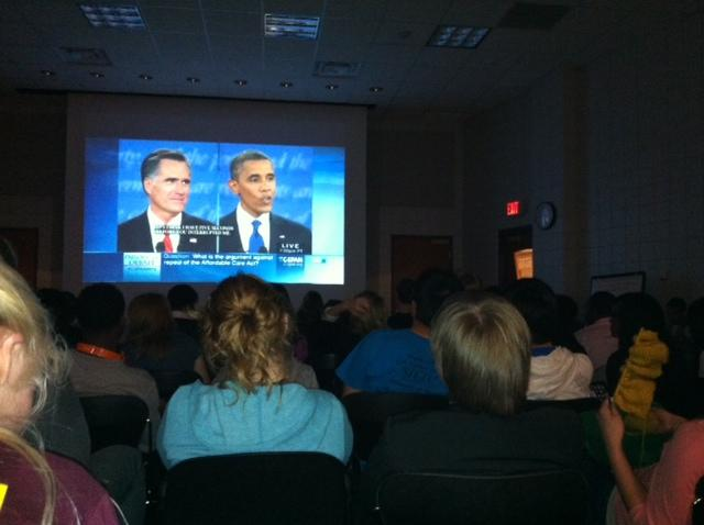 The group Tigers Against Partisan Politics and MU student groups hosted a Presidential debate watch party, in a nonpartisan environment at MU's Black Culture Center, Wednesday, Oct. 3.