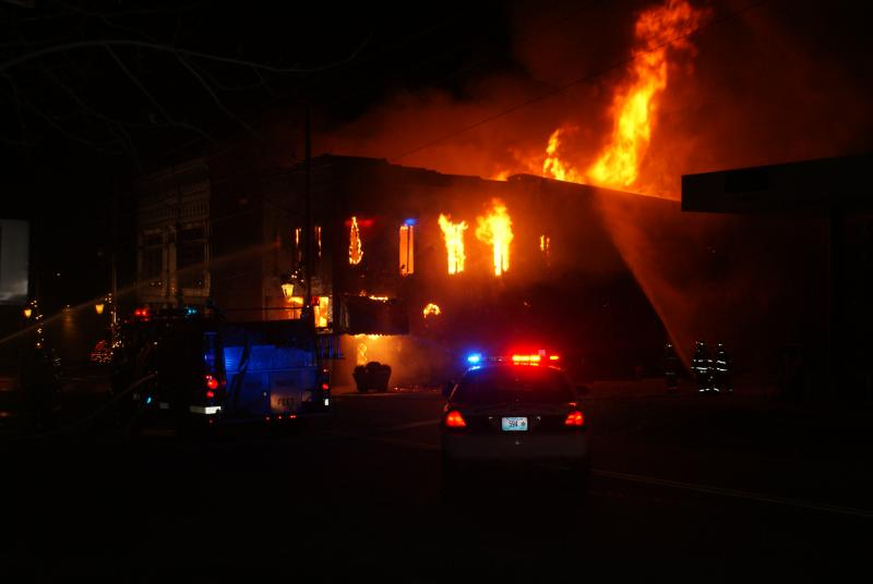 Bevier's Mayor says he took these photos between 3:00 and 4:00 Thursday morning, as firefighters battled a blaze that would claim a popular restaurant and historical museum in the small town.