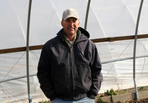"""We need to produce as much to feed the world as we can, but also people like to eat locally grown foods, too, so there's a case for both sides of agriculture,"" says Greg Rinehart, a farmer in Boone County, Iowa."