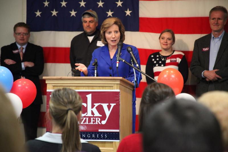 Vicky Hartzler speaks at her watch party for the 2012 election