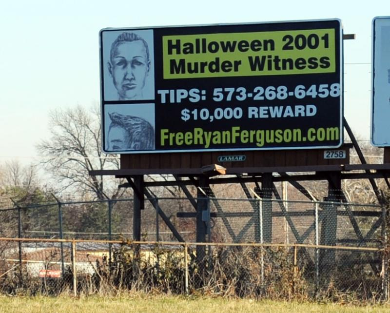 . The Ferguson family started billboard campaign Monday and the composite image is a newer version of the pervious composite produced by Columbia police based on the information from an eye witness.