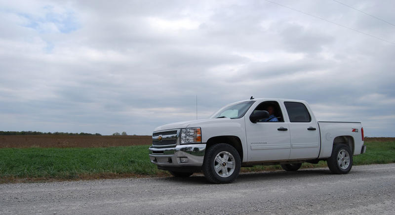 Farmland real estate agent Dale Hermreck in front of a 320-acre tract of high-quality cropland in East-Central Kansas he just sold for $3,600 an acre.