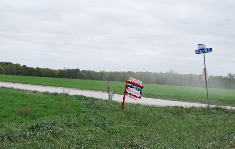 Around the corner is this 92-acre tract for sale.
