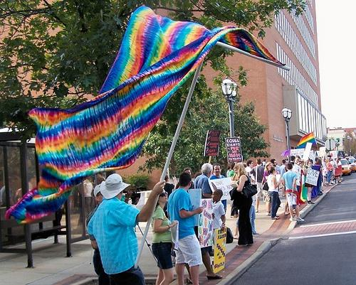 Photo from marriage equality rally in St. Louis