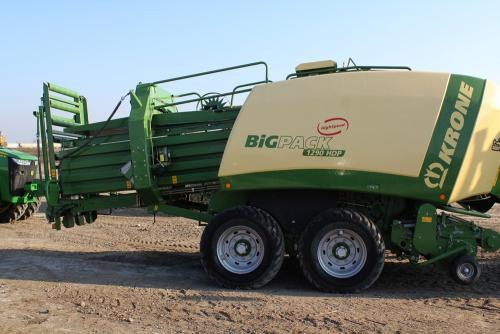 Equipment innovations such as this corn stover baler have helped make harvesting of biomass more practical.
