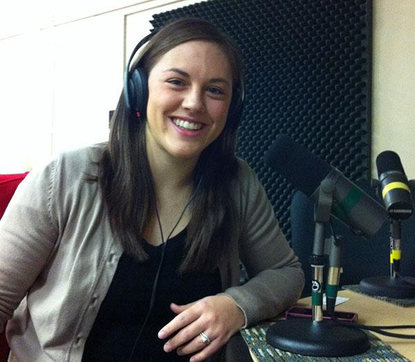 """Kelsey Gillespy, the Catholic writer for Columbia Faith and Values, stopped by the studio for an interview about her video project, """"This Little Light."""""""