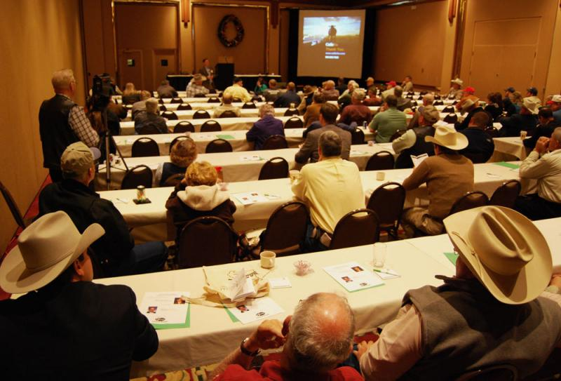 Kevin Good talks to ranchers about the drought's impact on the beef industry at the Missouri Cattlemen's Association's 2012 convention.