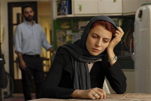 "Iranian actress Leila Hatami, and actor Peyman Moadi, act in a scene of the movie ""A Separation,"" which won this year's Academy Award in the foreign film category."