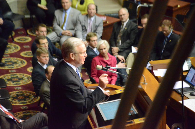 Missouri Governor Jay Nixon delivers his annual State of the State address at the Capitol, Jan. 28, 2013.