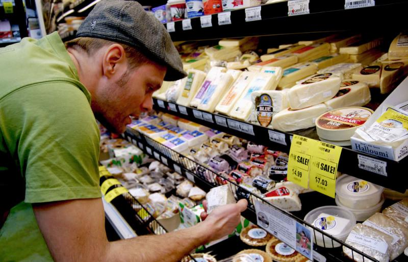 Noah Earle, the grocery manager at Clover's Natural Market in Columbia, Mo., says over the last five years he's seen an increasing interest in raw milk, with a corresponding interest in raw milk cheese.