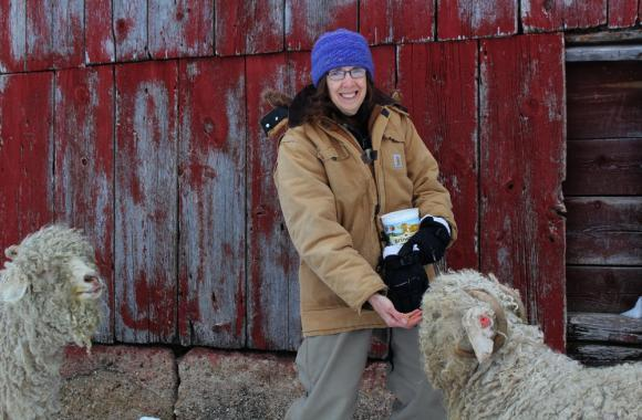 Marilyn Andersen, who raises angora goats and llamas for wool near Story City, Iowa, is one of many farmers and ranchers entering the individual health insurance marketplace.