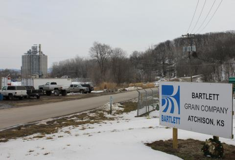 Bartlett Grain Co. rebuilt the greain elevator that exploded in 2011 in Atchison, Kan.