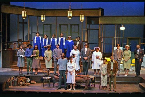 "The cast of the MU production of James Baldwin's ""The Amen Corner,"" directed by Clyde Ruffin."