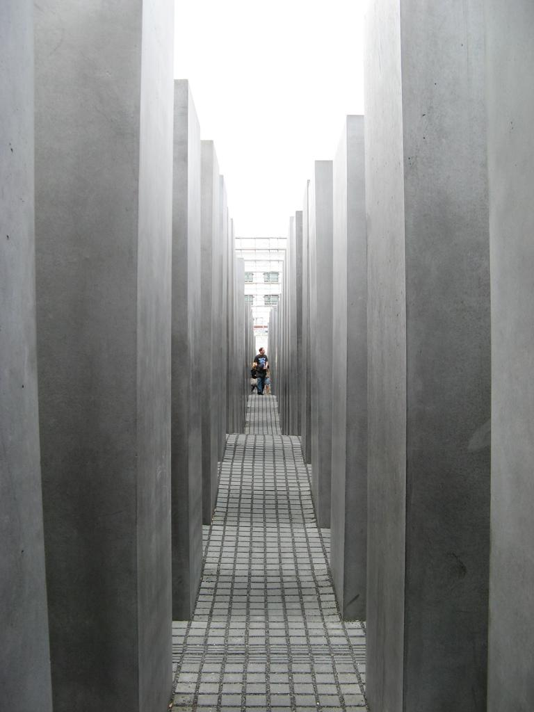 The Memorial to the Murdered Jews of Europe located in Berlin honors the victims of he Holocaust.