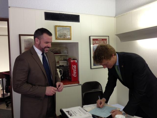Executive Director of PROMO AJ Bockelman and Representative Jon Wright
