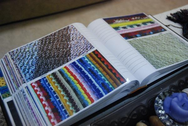 The women of the Olivet Christian Church prayer shawl ministry keep a scrapbook of every shawl they've ever made.