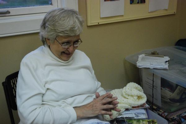 LuAnna Shively leads the Olivet prayer shawl ministry group.  She's been knitting and crocheting for longer than she can remember.