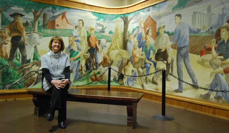 Cathi Hahner, the National Ag Hall of Fame's executive director, is hopeful of a side benefit in the Smithsonian's exhibit.