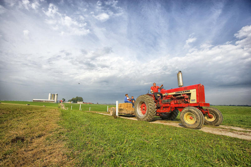 tractor on farmland