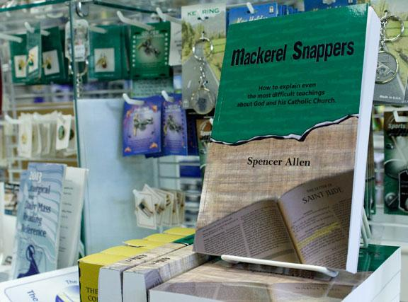 """Mackerel Snappers,"" a new book by Jefferson City author Spencer Allen, explains some difficult Catholic teachings. The book is pictured here on display in Divinity Religious Gift Shop in Jefferson City."