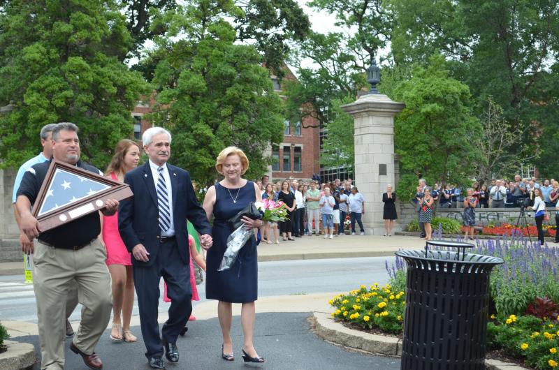 Dr. Gerald Brouder leaves Columbia College for his retirement on July 30, 2013