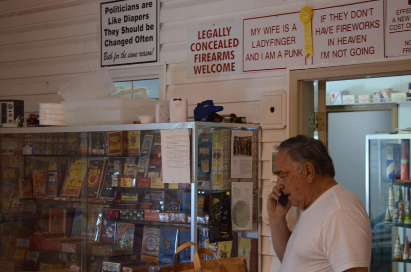 Bob Gerau is the owner of Bob's Fireworks, located just outside Columbia.