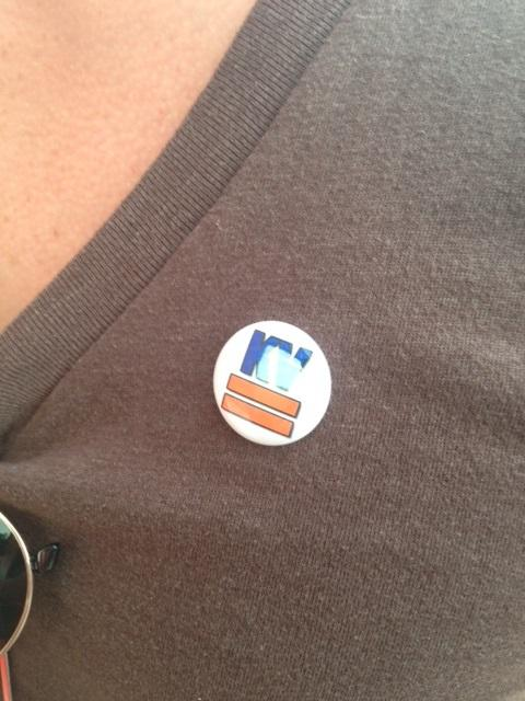 "Many supporters of a city anti-discrimination ordinance attended the meeting wearing ""KV Equality"" pins to show support."