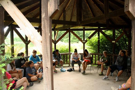 Camp Jump Start offers a time for campers to run a worship service on Sunday mornings next to the lake. They also offer programs to help campers through divorced or separated parents, loss of a loved one, adoption, anxiety and anger management.