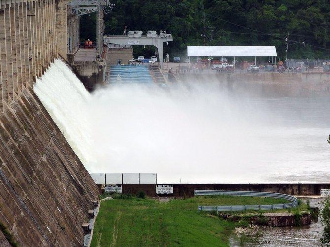 Ameren Missouri opened Bagnell Dam's floodgates on August 7, 2013.
