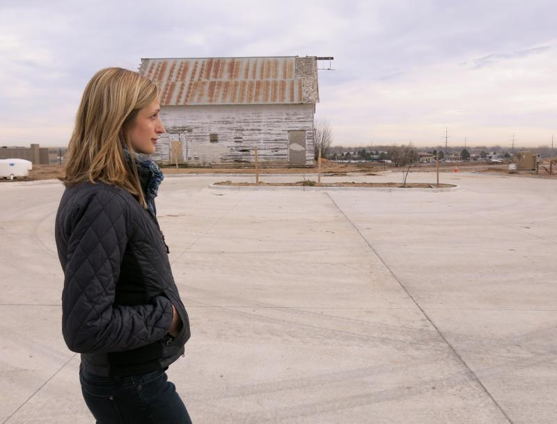 Kristin Kirkpatick, who leases space in Bucking Horse's commercial area, says agriculture and food production are the big draws to the development.