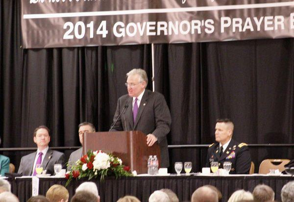 Missouri Governor Jay Nixon speaks during the Governor's Prayer Breakfast on Jan. 9, 2014.