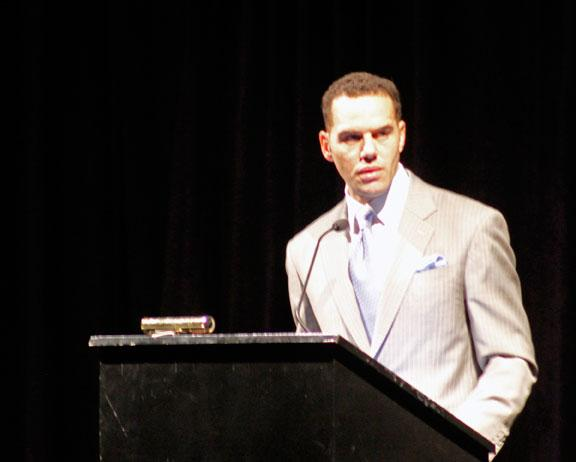 Steve Pemberton gives the keynote address at the 2014 Columbia Values Diversity Celebration. He is the chief diversity officer of Walgreens, and the author of a memoir.