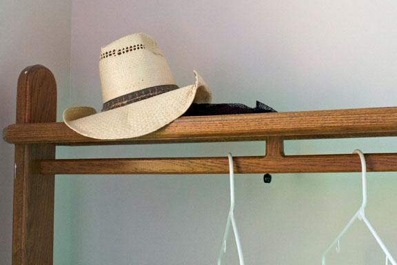 The hat of Henry Kelmme, life-long member of Peace UCC, sits on a rack in the back of the Hartsburg church. Klemme placed his hat on that rack every Sunday until he died in 1993. The church keeps his hat there as reminder of those who have gone on before.