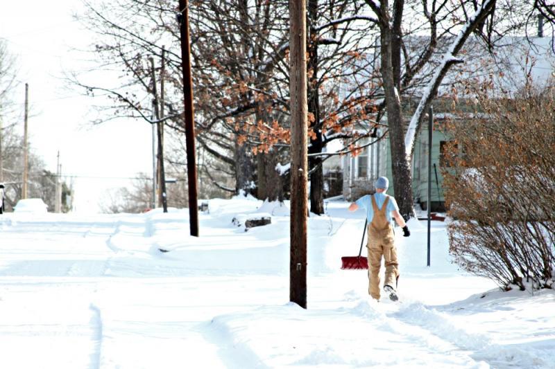 Windsor Street in Columbia, Mo on January 2, 2013