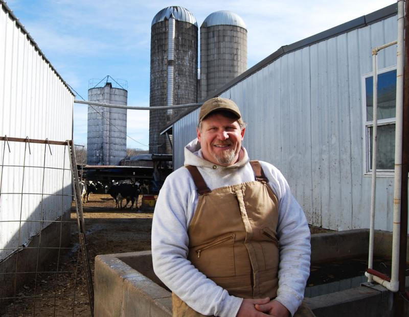 Tom Oelrichs milks 100 Holsteins at O-Rich Dairy in Mora, Mo., with his brother Randy and nephew Russ. To keep the dairy sustainable, the Oelrichs family grows 1,200 acres of corn and soybeans, and makes biodiesel from crushed soybeans.