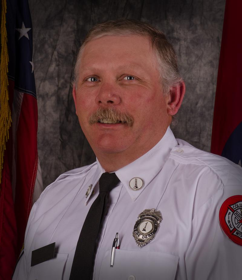 Lt. Bruce Britt. died Saturday in the line of duty while helping residents of University Village Apartments evacuate following a walkway collapse. Lt. Britt was a 23-year veteran of the Columbia Fire Department.