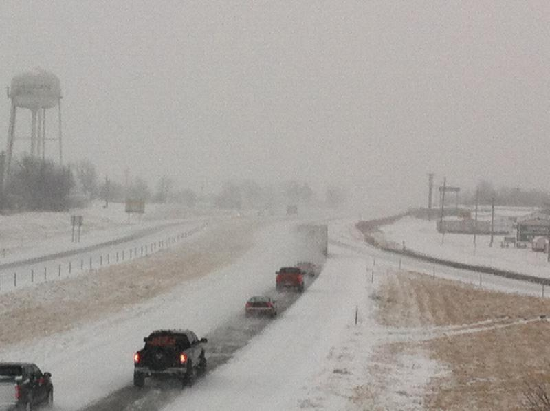 The view at US 63 near the Ashland exit, taken earlier this morning.