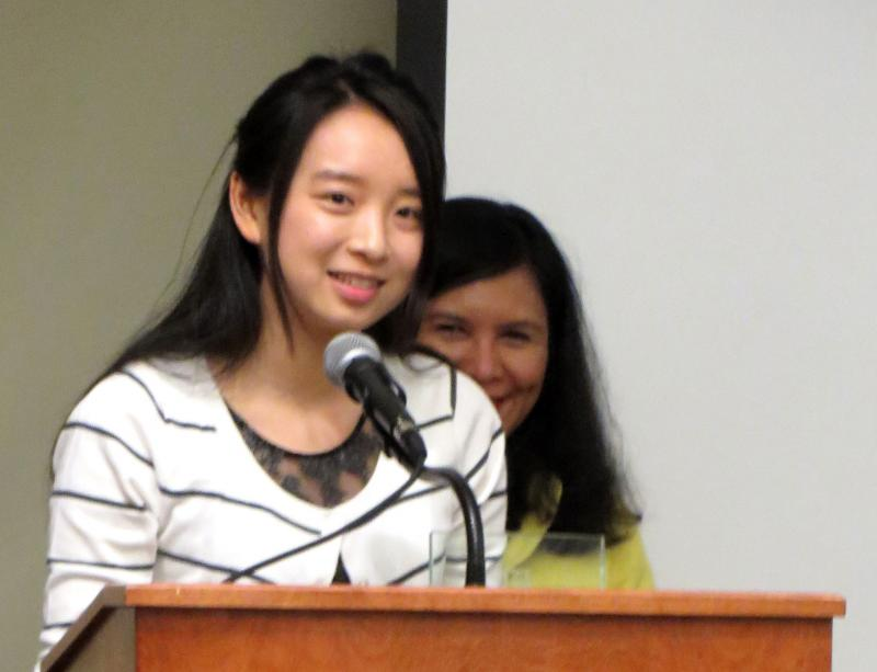 Jiangyun Zhu is a master's student in the college of engineering. She received an Inclusive Excellence Award for her work as a cultural educator and global volunteer.