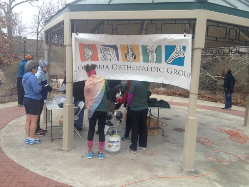Runners gather around the sign-in area for the fourth annual True Life Run on Saturday, March 1, 2014. Participants paid a $25 entry fee for the run, a True Life Run t-shirt, and breakfast at the conclusion of the race.