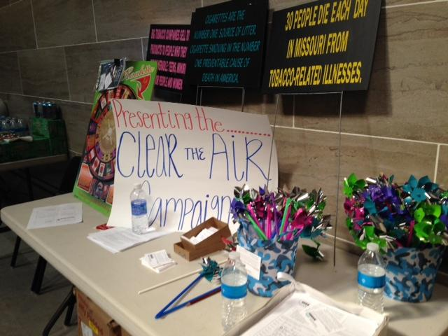 Students presented legislators with pinwheels as a part of Tobacco Free Missouri's Clear the Air Campaign