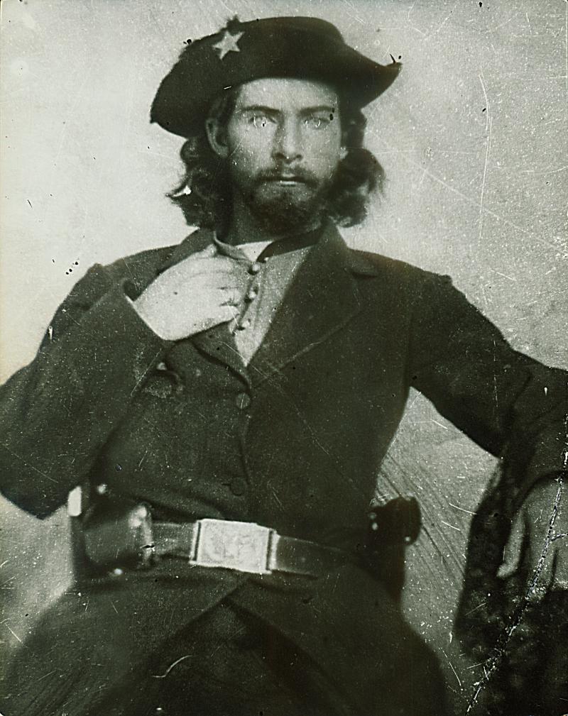 A portrait of Centralia Masscare leader Bloody Bill Anderson