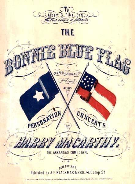 A poster for the Bonnie Blue Flag