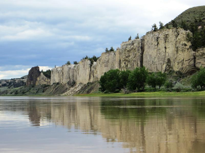 White bluffs as seen from the Missouri River