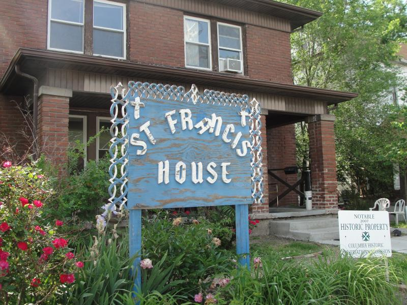 "The exterior of St. Francis House in Columbia, Missouri. Female Roman Catholic priest Janice Sevre-Duszynska visited the house and said mass and screened the documentary ""Pink Smoke Over the Vatican"" on May 28, 2014."