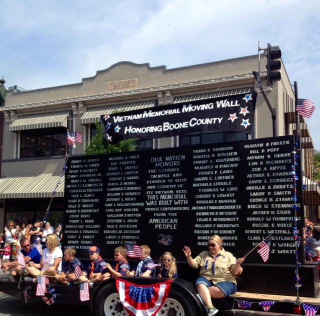 The Vietnam Memorial Moving Wall was featured in the 26th annual Salute to Veterans Memorial Day Parade on May 26, 2014..