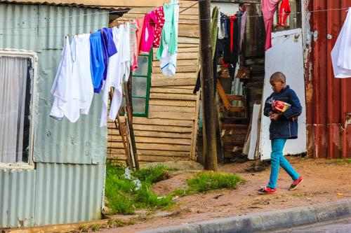 "A boy at a ""colored"" township."