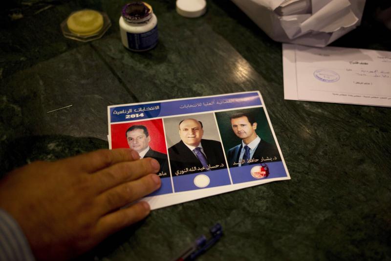 syria election ballot